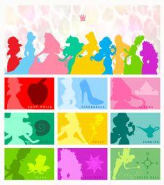 Disney Princesses and Tiaras
