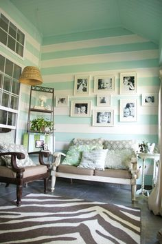 Gorgeous sun room via House of Turquoise: The Handmade Home Tour #summer