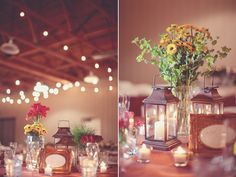 Lanterns - reception table decor