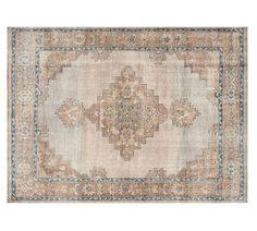 Hand knotted and double¬ luster washed, this rug features a large ornamental design that catches the eye, and the deliberate beige, brown and blue palette strikes a unique color balance. Pottery Barn, Blue Pottery, Coastal Powder Room, Simple Furniture, Kitchen Furniture, Furniture Ideas, Furniture Stores, Deco Furniture, Furniture Websites