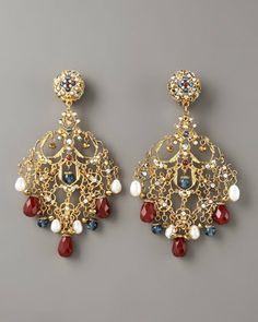 Jose & Maria Barrera Multicolor Filigree Earrings - http://www.neimanmarcus.com/store/catalog/prod.jhtml?itemId=prod144060278