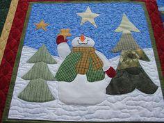 State Fair Christmas Quilt/Block - Snowman   Flickr - Photo Sharing!