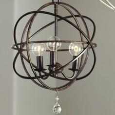 Over kitchen island- Petite Orb Chandelier | Lighting | Ballard Designs