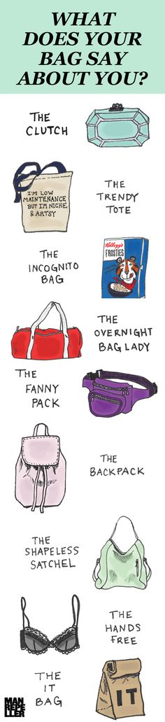 This guide is totes clutch! For more great jokes like that one, visit http://www.manrepeller.com/2014/12/what-your-bag-says-about-you.html