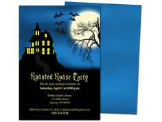 haunted house halloween party template
