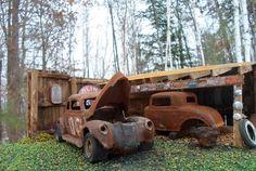 1 24 1 24 1 25 Scale Built Diorama Build Up Model Junkyard Scene Ratrod Model | eBay