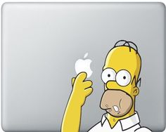 Simpson Decal For MacBook / This decal is made with high quality 3M Removable Vinyl, it will last 7 years on your macbook and can easily be removed and will leave NO residue. http://thegadgetflow.com/portfolio/simpson-decal-for-macbook/