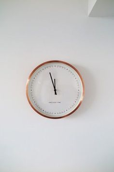 The Copper Aurelia Clock is simple but stylish – the perfect modern addition to Sonny's white wall | made.com/unboxed