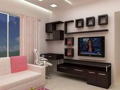 Trendy Home Decored Wall Shelves Ideas Modern Tv Unit Designs, Wall Unit Designs, Modern Tv Wall Units, Living Room Tv Unit Designs, Tv Wall Design, Tv Unit Interior Design, Tv Unit Furniture Design, Tv Unit Decor, Tv Wall Decor