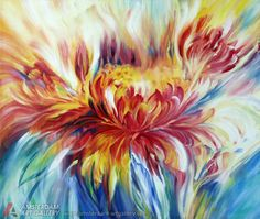 floral garden Floral garden: abstract flowers with acrylic ...