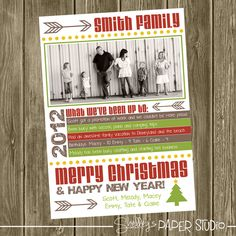 Photo Christmas Card  Year Highlights by shelleyspaperstudio, $18.00
