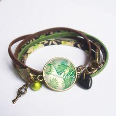 Bracelet cabochon jungle bracelets à breloque et par BOUCLELLA, €12.50