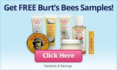 Sign up for Free Samples of Burts Bees Products!