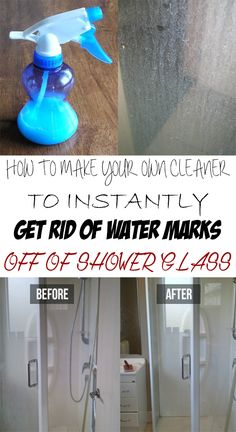 How to make your own cleaner to instantly get rid of water marks off of shower glass