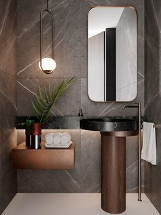 Dreaming of a elegant or designer master bathroom? We've gathered together lots of gorgeous master bathroom suggestions for small or large budgets, including baths, showers, sinks and basins, plus master bathroom decor a few ideas. Bad Inspiration, Bathroom Inspiration, Modern Bathroom, Small Bathroom, Bathroom Ideas, Bathroom Organization, Bathroom Vanities, Boho Bathroom, Bathroom Cabinets