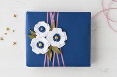 anemone gift wrap - anastasia marie
