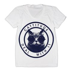 Cattitude TShirt Select Size by burgerandfriends on Etsy.  Buying it!