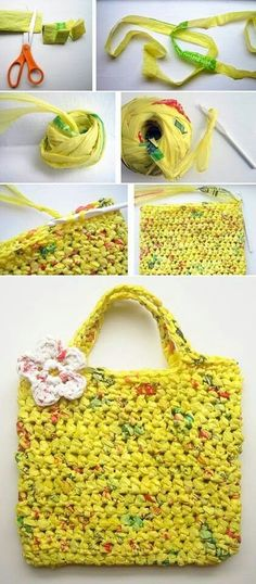Plastic bag crochet, recycled plastic bags, plastic grocery bags, crochet p Plastic Bag Crafts, Plastic Bag Crochet, Recycled Plastic Bags, Plastic Grocery Bags, Crochet Tote, Crochet Purses, Crochet Crafts, Yarn Crafts, Crochet Projects