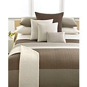 Love IT!!  Calvin Klein Studio Bedding, Laguna Rib Plateau King Duvet Cover