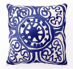 Trina Turk Lapis Rustic Medallion Embroidered Pillow-ON BACKORDER UNTIL LATE MAY 2012 $130.00 (USD)