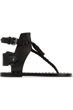 Isabel Marant Jep embellished leather sandals, stl 41, 243€ https://www.theoutnet.com/en-SE/product/Isabel-Marant/Jep-embellished-leather-sandals/702416