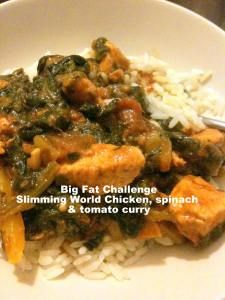 Slimming World Chicken, spinach and tomato curry World Recipes, Diet Recipes, Cooking Recipes, Healthy Recipes, Tomato Curry, Spinach Curry, Slimming Workd Recipes, Sliming World