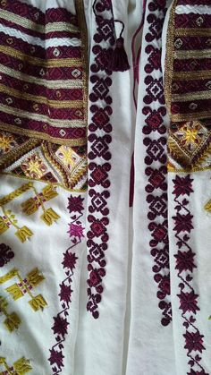 Folk Costume, Costumes, Diy And Crafts, Embroidery, Shirts, Needlepoint, Dress Up Clothes, Fancy Dress, Dress Shirts
