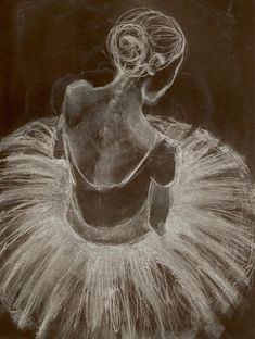 white chalk on black paper (I want to have a dance troop join us in the art classroom for this...)