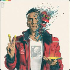 Logic Traverses the Common Space of Fame & Social Media in New Album 'Confessions of a Dangerous Mind': Featuring heavy hitters like Eminem, Gucci Mane & Wiz Khalifa. Logic Album Cover, Album Covers, Dangerous Minds, G Eazy, Gucci Mane, Wiz Khalifa, Rapper Logic, Rapper Art, Collage