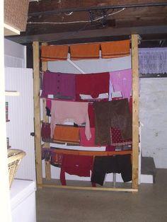 DIY basement clothesline - Inspiration for line drying, built for $35.00