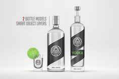 Distilled beverage bottle mockup by Linepeak Design on @creativemarket