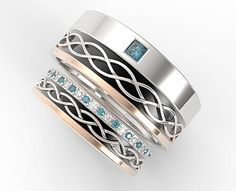 Juego de vendas de boda única banda de boda anillo de bodas