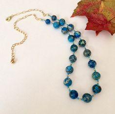 Imperial jasper necklace Beaded jasper by BarbsBeadedJewelry