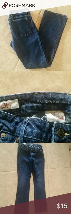 Banana Republic blue jeans bootcut size 4 Banana republic Urban bootcut jeans, cotton-spandex, some stretch, please ask if you need specific measurements. Closet staple basic everyday wear Banana Republic Jeans Boot Cut