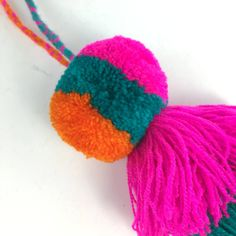Zinnia Folk Arts - Chiapas Large Wool Pom Poms with Tassels
