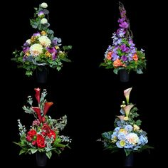 Bukiet nagrobny do kompletu Nr 900 Funeral Flower Arrangements, Funeral Flowers, Floral Arrangements, Floral Wreath, Wreaths, Amazing, Projects, Crafts, Style