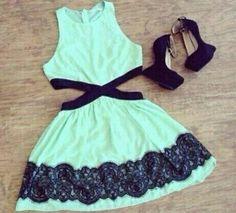 vestido juvenil-verde agua