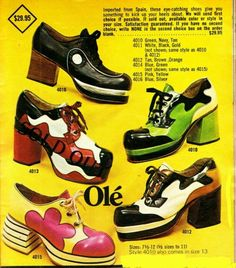 70s vintage ad Olé shoes