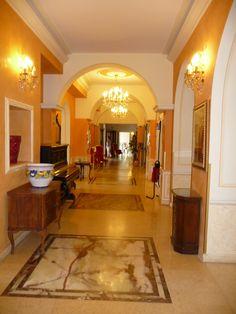 In the Grand Britannia Excelsior Hotel, Lake Como, Italy. by B Waddington
