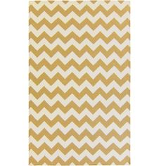 Yellow Chevron Frontier Rug – adds the perfect pop of pattern to any playroom, kids room or nursery!