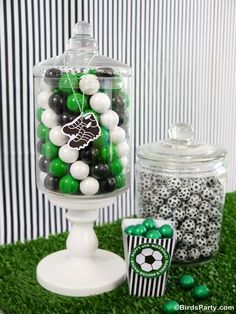 Brazil World Cup: DIY Football Candy Display