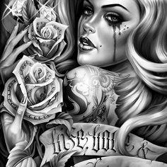 Love this chicano arte Amor Chicano, Chicano Love, Chicano Art Tattoos, Chicano Drawings, Body Art Tattoos, Girl Tattoos, Sleeve Tattoos, Tatoos, Chicano Lettering