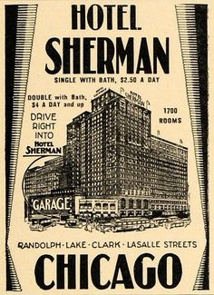 Bildresultat för Hotel Sherman Chicago in 1942