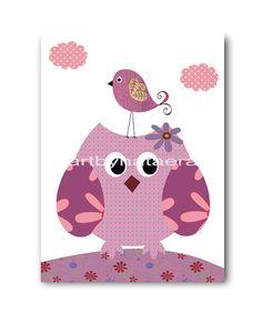 Owl Decor Owl Nursery Baby Girl Nursery by nataeradownload on Etsy