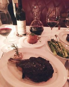 Celebrate  Thank you Strip House & Chef @MichaelViggz for this amazing dinner last night! We got to try the signature bone-in New York Strip  Ribeye paired with 1987 Cabernet (older than me!)  Also got the seafood platter and the 24 layer chocolate cake - Go see it all on Snapchat! http://ift.tt/10fRvFt  #LevitateNYC #NYC #StripHouse