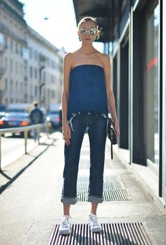 17 Strapless Top Outfits | StyleCaster