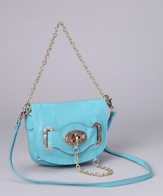 Take a look at this Seafoam Turnkey & Chain Shoulder Bag by Adhesion, LLC on #zulily today!