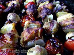 Saslik sütőben Sprouts, Vegetables, Food, Essen, Vegetable Recipes, Meals, Yemek, Veggies, Eten
