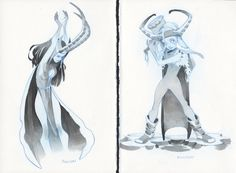 Lady Loki and She-Thor, in Brian Methot's Sketches Comic Art Gallery Room Loki Art, Lady Loki, Marvel, Thor, Art Gallery, Sketches, Characters, Comics, Drawings