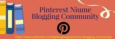 Join the Pinterest Niume Blogging Community!